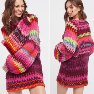 Free People Castles In The Sky Rainbow Sweater